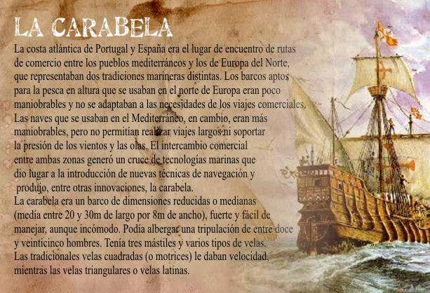 La Carabela Una Gran Nave Para Viajes Por el Oceano