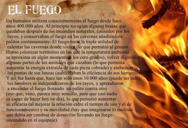 el fuego en la historia