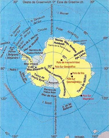 antartida mapa